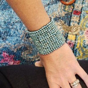 Jewelry - Beaded turquoise cuff bracelet